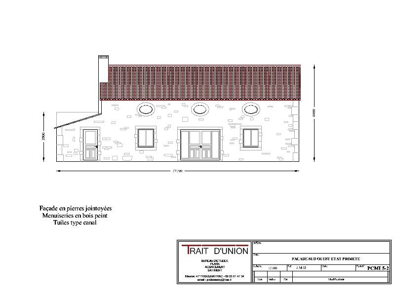 Pin pcmi 5 plan des fa ades et des toitures on pinterest - Plan des facades et des toitures ...